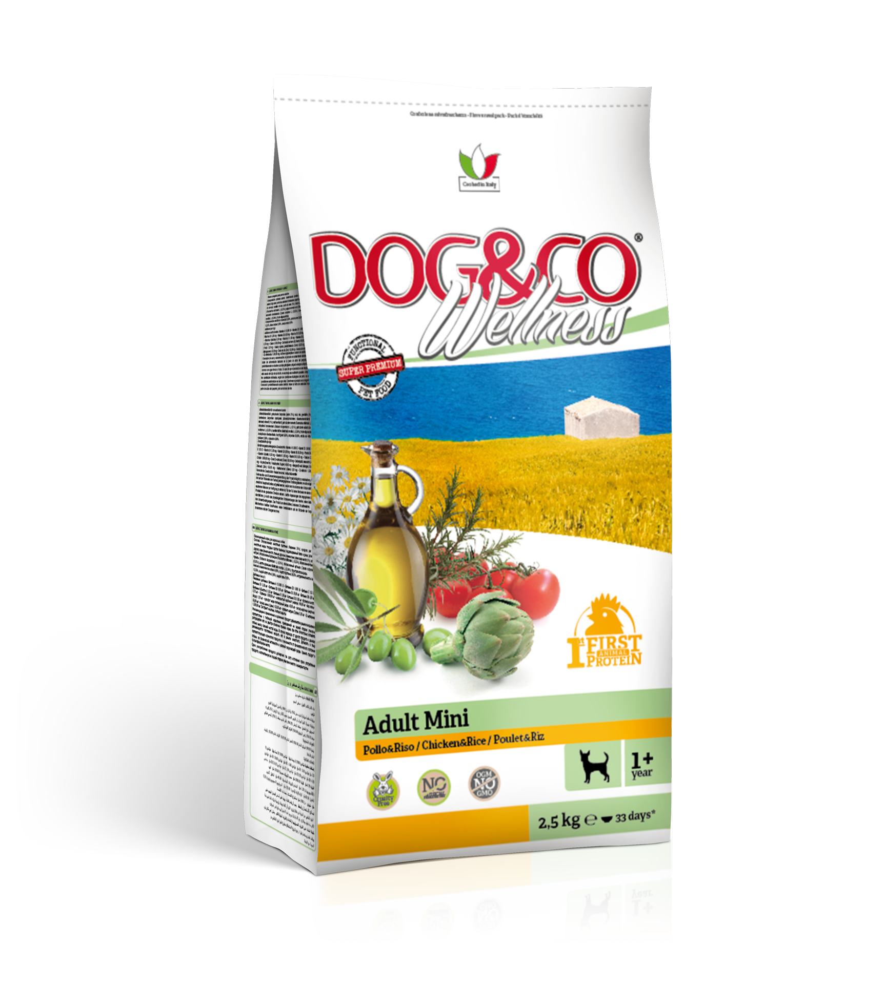 Dog&co wellness adult mini kuře s rýží 2,5kg (super-premium)