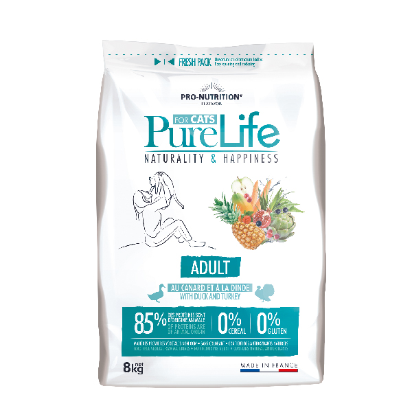 AKCE - PURE LIFE FOR CATS adult 8kg (super-premium)