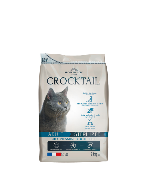 AKCE - CROCKTAIL adult sterilized ryba 2kg (super-premium)