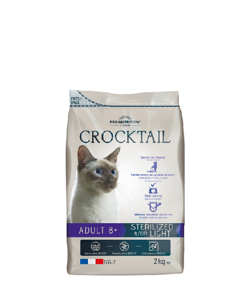 Flatazor CROCKTAIL adult sterilized 8+  2kg (super-premium)
