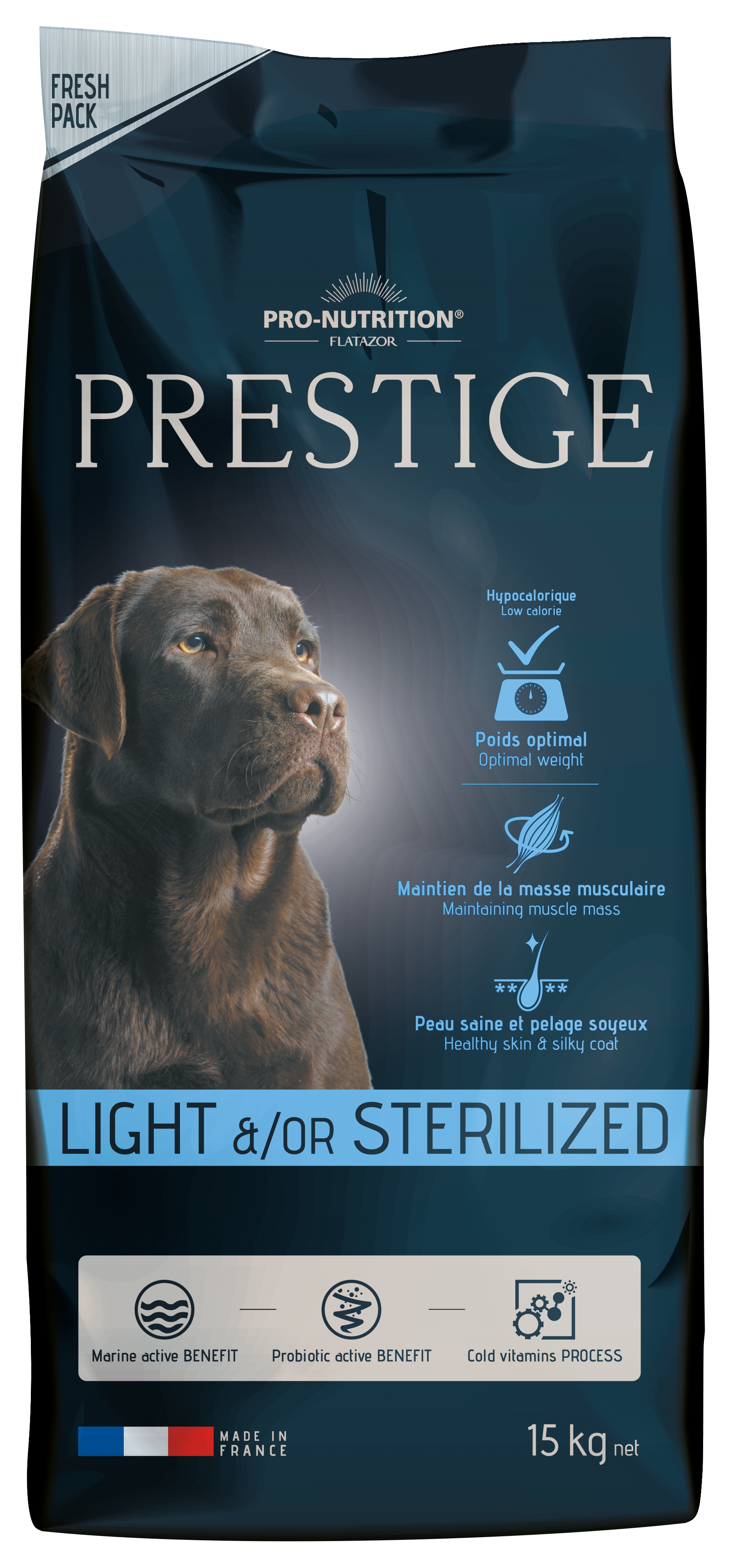 Flatazor PRESTIGE light/sterilized 15kg + 3kg (super-premium)