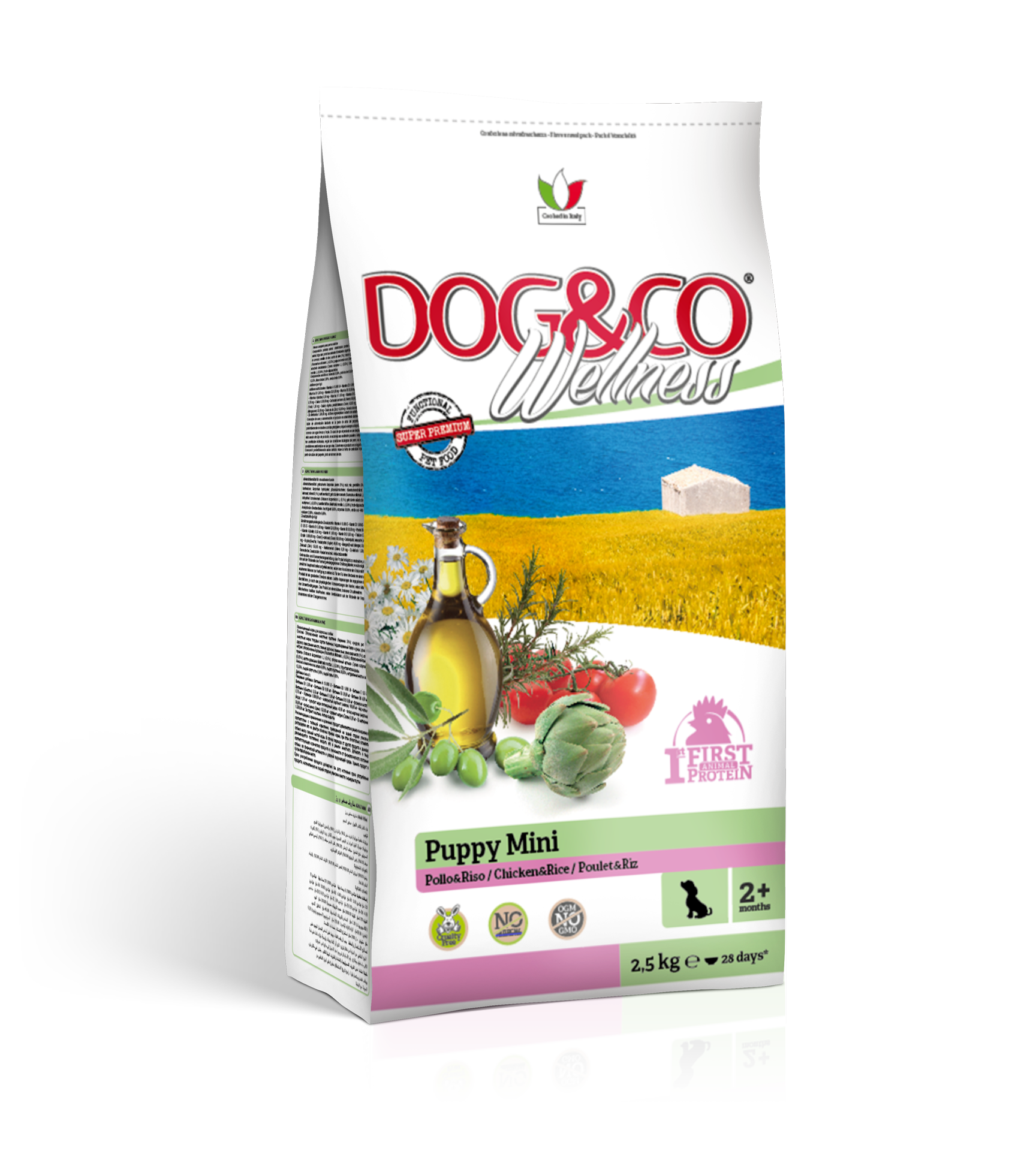 Dog&co wellness puppy mini kuře s rýží 7kg (super-premium)