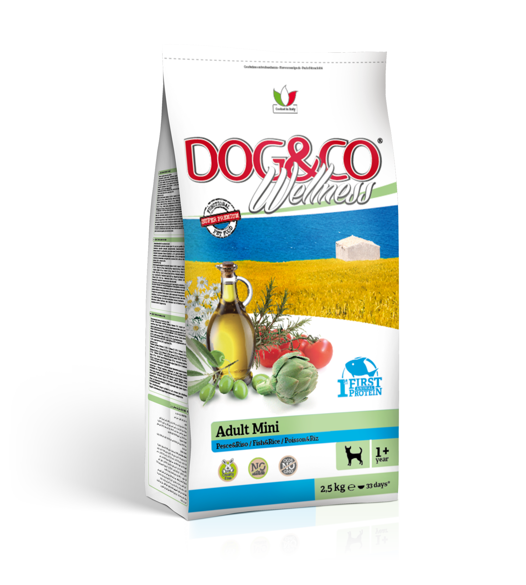 Dog&co wellness adult mini ryba s rýží 7kg (super-premium)