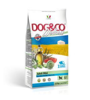 AKCE - Dog&co wellness adult mini ryba s rýží 2,5kg+ FALCO DOG los. filet ZDARMA