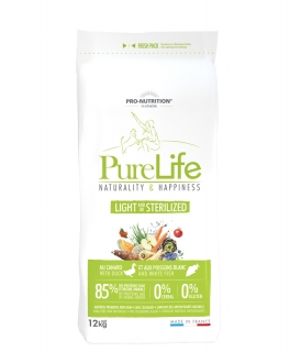 PURE LIFE light stelirized 12kg (super-premium)
