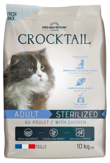 AKCE - CROCKTAIL adult sterilized kuře 10kg (super-premium)