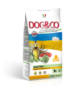 Dog&co wellness adult mini kuře s rýží 7kg (super-premium)