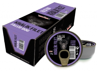 FALCO DOG králík filet 120g - BALENÍ 8ks