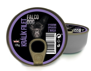 FALCO DOG králík filet 120g