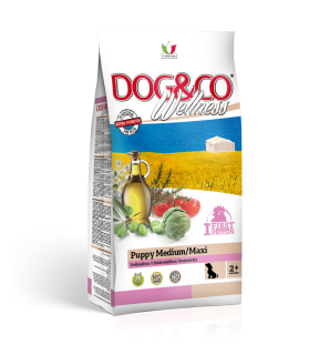 Dog&co wellness puppy medium/maxi kuře s rýží 12kg (super-premium)
